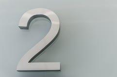 Numéro de maison métallique 2 photos libres de droits