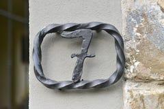 Numéro de maison sept Image libre de droits