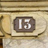 Numéro de maison treize 13 Image libre de droits