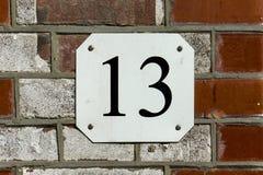 Numéro de maison treize 13 Photo libre de droits