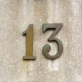 Numéro de maison treize 13 Photographie stock