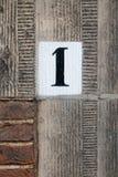 Numéro de maison un Photo stock