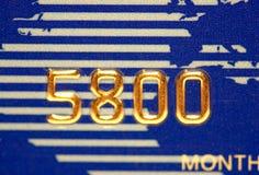 Numéro de par la carte de crédit Images libres de droits