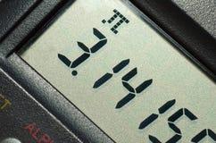 Numéro de pi sur la calculatrice Photographie stock