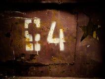 Numéro de pochoir photographie stock