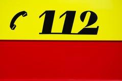 Numéro de secours Image stock