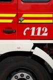 Numéro de secours de pompe à incendie Photographie stock
