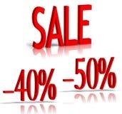 Numéro de vente et de pour cent Images stock