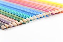 Numéro des crayons colorés Images libres de droits