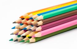 Numéro des crayons colorés photographie stock