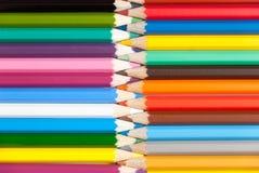 Numéro des crayons colorés photographie stock libre de droits
