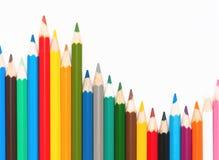 Numéro des crayons colorés photo libre de droits