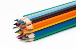 Numéro des crayons colorés image libre de droits