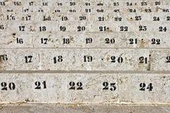 Numéro des sièges dans l'arène Image stock