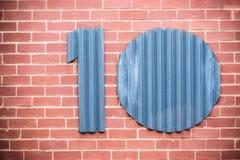 Numéro dix Images stock