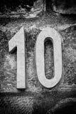 Numéro dix de pierre photo libre de droits