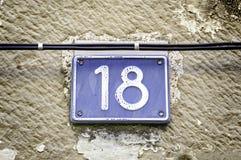 Numéro dix-huit photo libre de droits