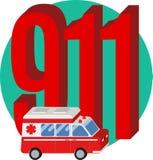 numéro du téléphone 911 Photographie stock libre de droits