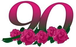 Numéro 90 floral Image libre de droits