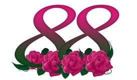 Numéro 88 floral Image stock