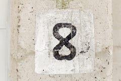 Numéro huit image libre de droits