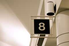 Numéro huit images libres de droits