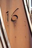 Numéro seize 16 Photo libre de droits