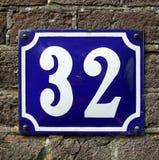 Numéro trente-deux - 32 Photographie stock libre de droits