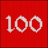 Numéro tricoté cent illustration libre de droits
