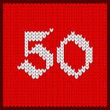 Numéro tricoté cinquante illustration de vecteur