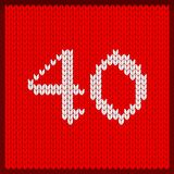 Numéro tricoté quarante illustration de vecteur