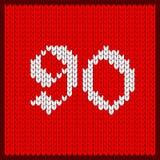 Numéro tricoté quatre-vingt-dix illustration stock