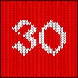 Numéro tricoté trente illustration de vecteur