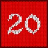 Numéro tricoté vingt illustration stock