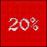 Numéro tricoté vingt pour cent illustration libre de droits