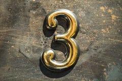 Numéro 3 trois marquant avec des lettres Images libres de droits