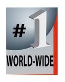 Numéro un dans le monde entier Photographie stock libre de droits