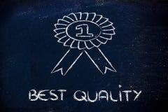 Numéro un, gagnant de la meilleure qualité Photos stock