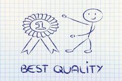 Numéro un, gagnant de la meilleure qualité Image stock