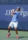 Numéro un joueur junior semé Alexander Zverev d'Allemagne pendant le troisième match de rond à l'US Open 2013 Photos libres de droits
