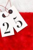 Numéro vingt-cinq sur des étiquettes Photo stock