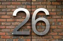 Numéro vingt-six photo stock