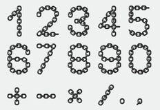 Numéros à chaînes - format de cdr Images stock