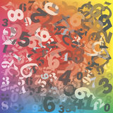 Numéros. Image stock
