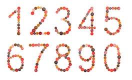 Numéros Photo libre de droits