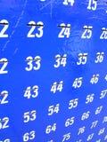 Numéros. Images libres de droits