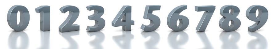 Numéros argentés de ramassage Photo stock