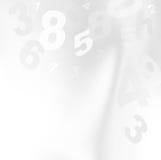 Numéros blancs Photos stock