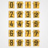 Numéros d'alphabet mécanique de tableau indicateur illustration de vecteur