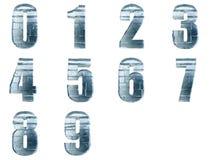 Numéros de bloc de glace d'isolement Photos stock